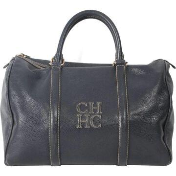 Carolina Herrera Blue Fur Handbags