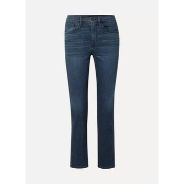 3x1 - Stevie Cropped High-rise Straight-leg Jeans - Dark denim