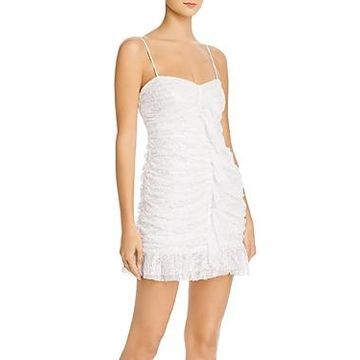 For Love & Lemons Rodin Iridescent Lace Mini Dress