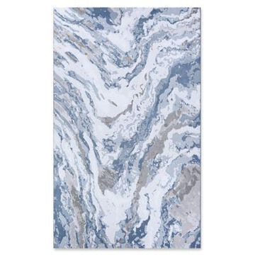 Couristan Abstract Marble 3'11 x 5'6 Area Rug in Grey