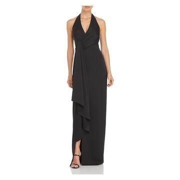 AIDAN MATTOX Black Sleeveless Full-Length Dress 4