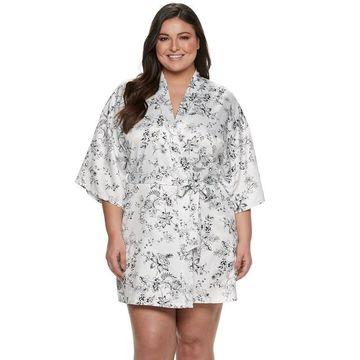 Plus Size Apt. 9 Satin Wrap Robe