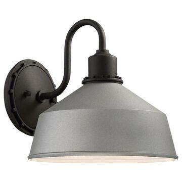 Minka Lavery Mantiel 9.75-in H Sand Silver Dark Sky Medium Base (E-26) Outdoor Wall Light | 71242-295