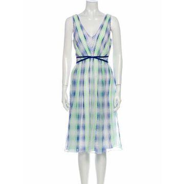 Silk Midi Length Dress w/ Tags White