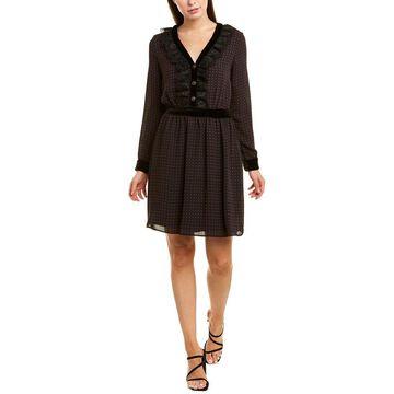 The Kooples Womens Pleated Dots Sheath Dress
