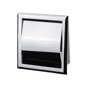 General Hotel Chrome Steel Recessed Toilet Paper Holder