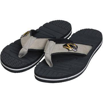 Missouri Tigers Gray Goose Unisex Flip Flops - Gray
