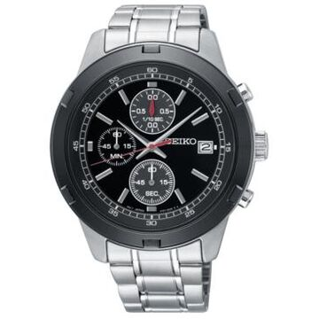 Seiko Men's Chronograph Stainless Steel Bracelet Watch 43.5mm