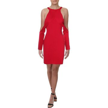 Dion Lee Womens Party Dress Cold Shoulder Sheath
