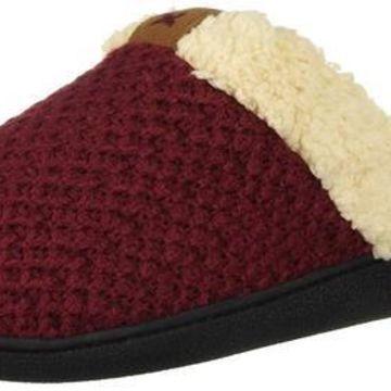 Dearfoams Women's Textured Knit Closed Toe Scuff