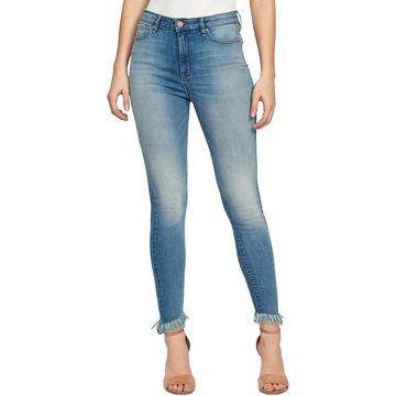 William Rast Womens Skinny Jeans Denim Light Wash
