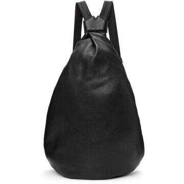 Yohji Yamamoto Black Medium 'discord' Y Bag-Pack Backpack