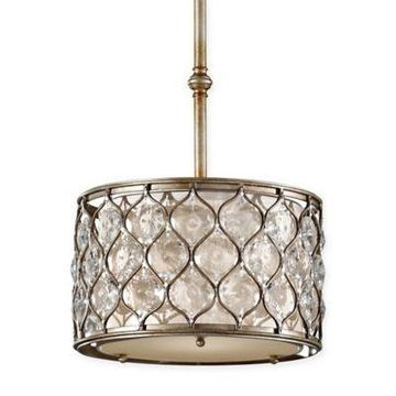 Feiss 1-Light Pendant in Burnished Silver