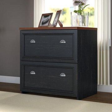 Bush Furniture Fairview Lateral File Cabinet in Antique Black