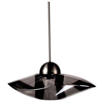 WAC Lighting Sorriso LED 1 Light Pendant, Smoke, Brushed Nickel