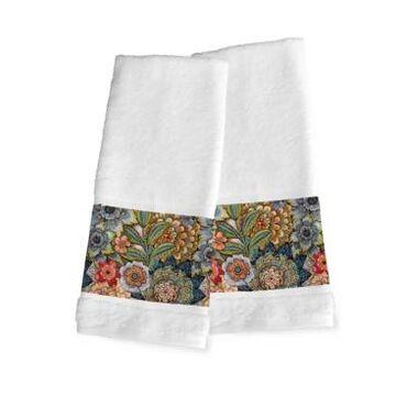 Laural Home Boho Bouquet 2-Pc. Hand Towel Set Bedding