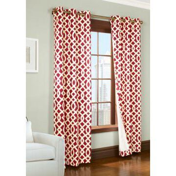 Commonwealth Home Fashions Trellis Window Panel 63-In. X 80-In. -