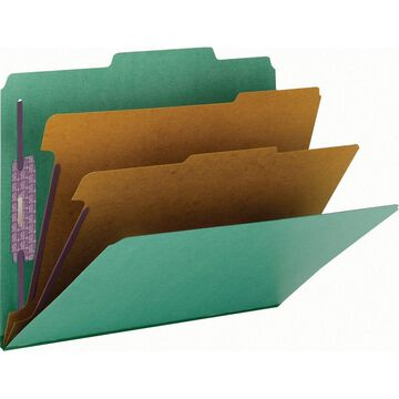 Smead PressGuard Classification Folders with SafeSHIELD Coated Fastener Technology - Letter - 8 1/2