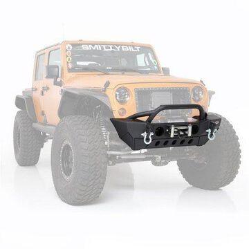 Smittybilt XRC Gen2 Front Bumper with Winch Plate (Light Texture Black) - 76807LT