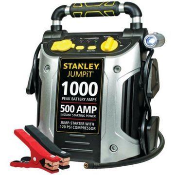 Jump Starter STANLEY 1000 Peak Amps Car Battery Charger Air Compressor 120 PSI