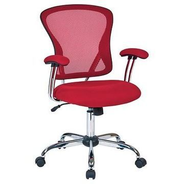 Ave Six Juliana Task Chair Red Mesh - Office Star