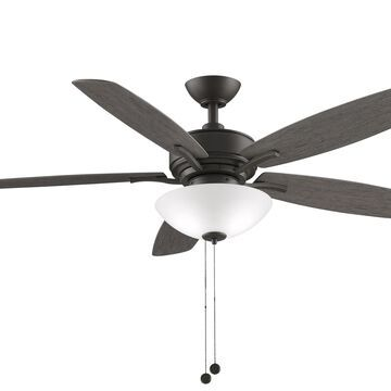 """Fanimation Aire Deluxe 2-Light 52"""" LED Indoor Ceiling Fan in Matte Greige with White Frosted Glass"""