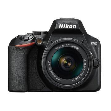 Nikon D3500 DSLR Camera with AF-P DX NIKKOR 18-55mm Lens (Black)