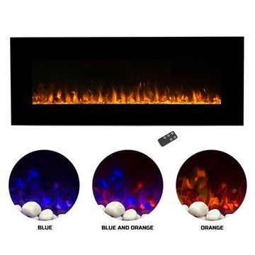 Northwest 54 inch Electric Wall Mounted Fireplace with Fire and Ice Flames