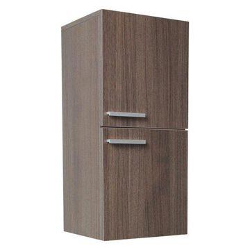 Fresca Gray Oak Bathroom Linen Side Cabinet With 2 Storage Areas