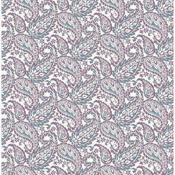 Brewster 2657-22213 Adrian Plum Paisley Wallpaper