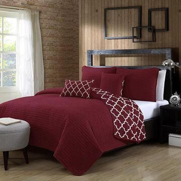 Avondale Manor Griffin 5-piece Quilt Set, Red, Twin