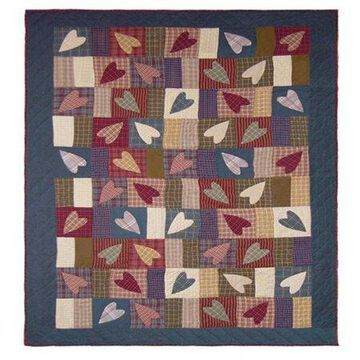 Patch Magic Country Hearts Quilt Queen 85