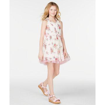 Big Girls Printed Shirtwaist Dress
