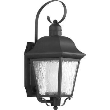 Progress Lighting Andover 18.375-in H Black Medium Base (E-26) Outdoor Wall Light   P6620-31MD
