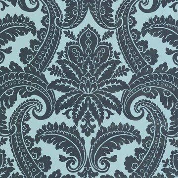 Eijffinger by Brewster 310801 Green Foil Damask Wallpaper