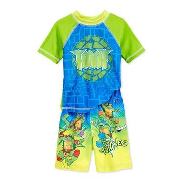 Nickelodeon Boys 2-Piece Rash Guard Graphic T-Shirt