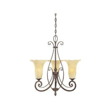 Designers Fountain 80983-WM 3 Light Chandelier from the Melia Collecti
