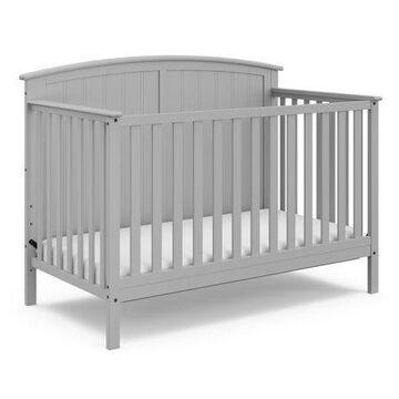 Storkcraft Steveston 4 in 1 Convertible Baby Crib, Pebble Gray