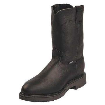 Size 11-1/2 Men's Pull On Steel Work boots, Black