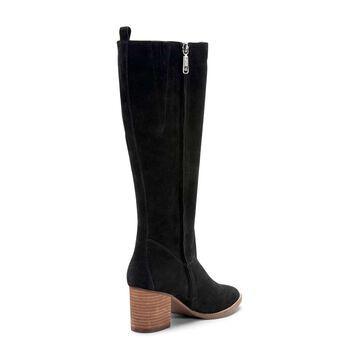 Blondo Womens Nikki Leather Almond Toe Knee High Fashion
