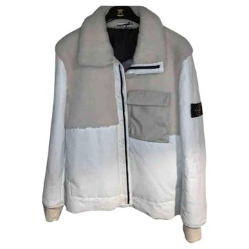 Stone Island \N White Leather Coats