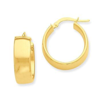 Versil 14 Karat Yellow Gold Thick Hoop Earrings