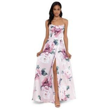 Xscape Floral-Print Tulip Gown
