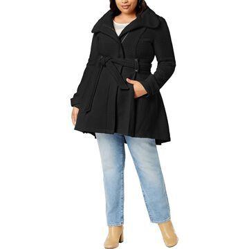 Madden Girl Womens Belted Winter Wrap Coat