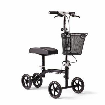 Medline Lightweight Steerable Knee Walker, Alternative to Crutches, With Hand Brakes & Basket, 8