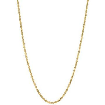 18kt Gold-Plated Sterling Silver 2.5mm Rope Chain Men's Necklace, 20