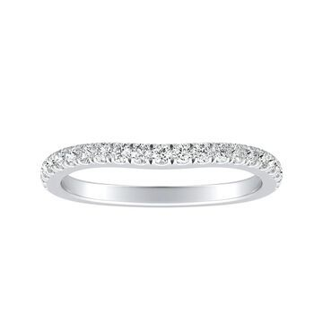 Auriya 1/4ctw Contoured Diamond Wedding Band Platinum