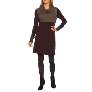 Alyx Long Sleeve Cowl Neck Sweater Dress