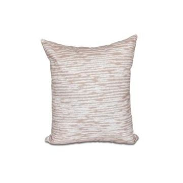 Marled Knit 16 Inch Taupe Decorative Coastal Throw Pillow