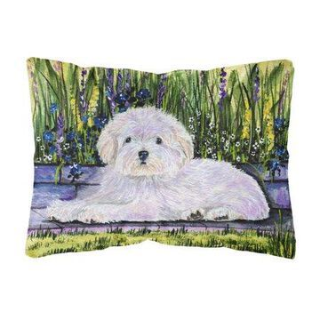 Coton de Tulear Decorative Canvas Fabric Pillow